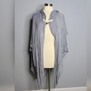NEW Striped Lightweight Poncho Coverup Toggle